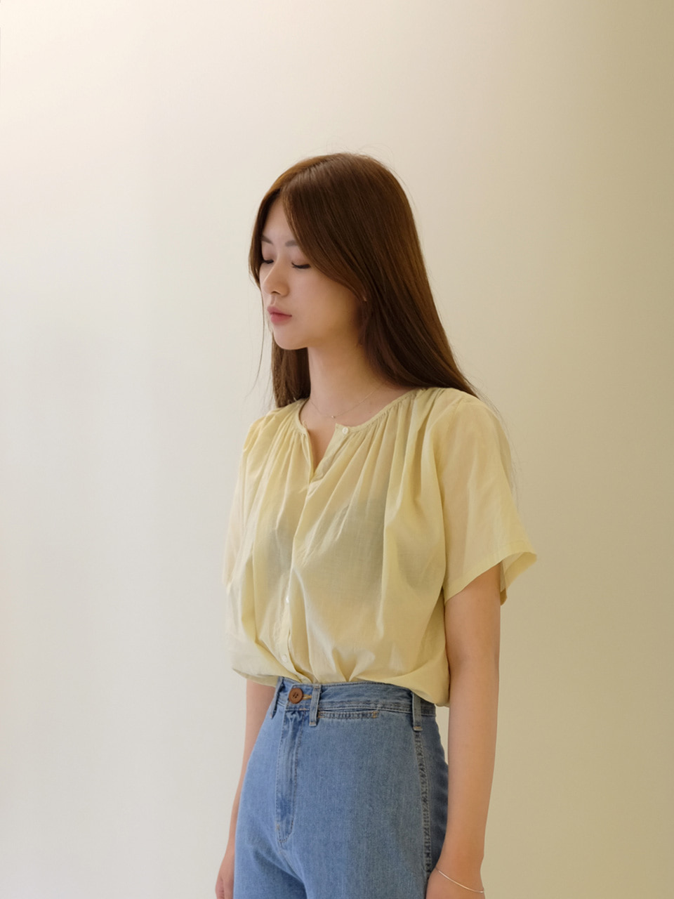 PALE BLOUSE(YELLOW)