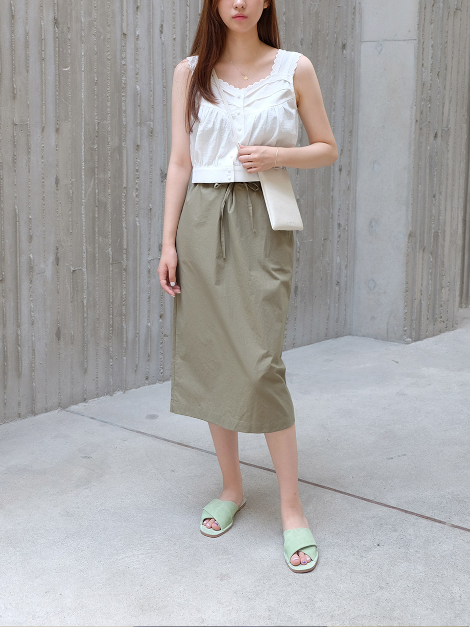 CLEAN COTTON SKIRTS(2COLOR)