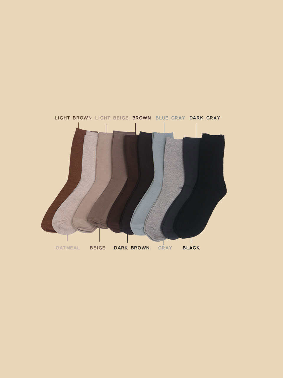NEW BASIC SOCKS [10 COLOR]