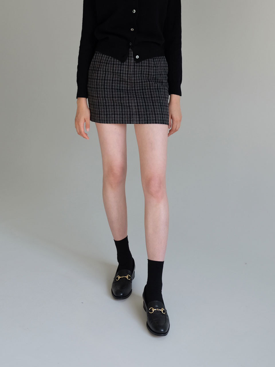 19F/W BELLA SKIRTS [EBONY CHECK]
