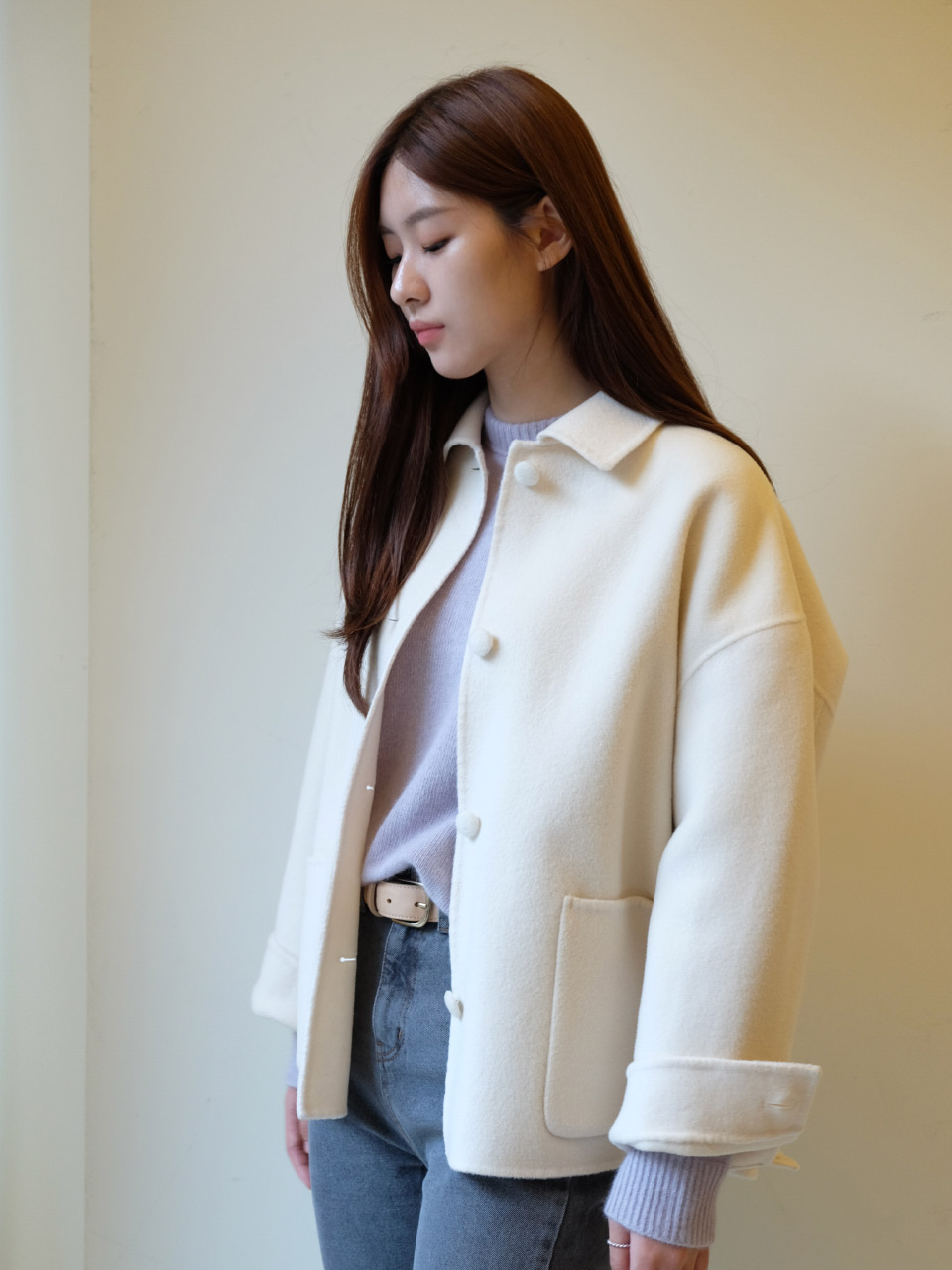 BUTTON HANDMADE JACKET [CREAM]