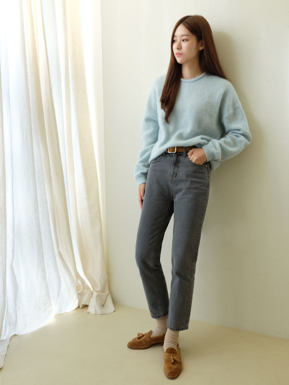 PURL DENIM [GRAY]
