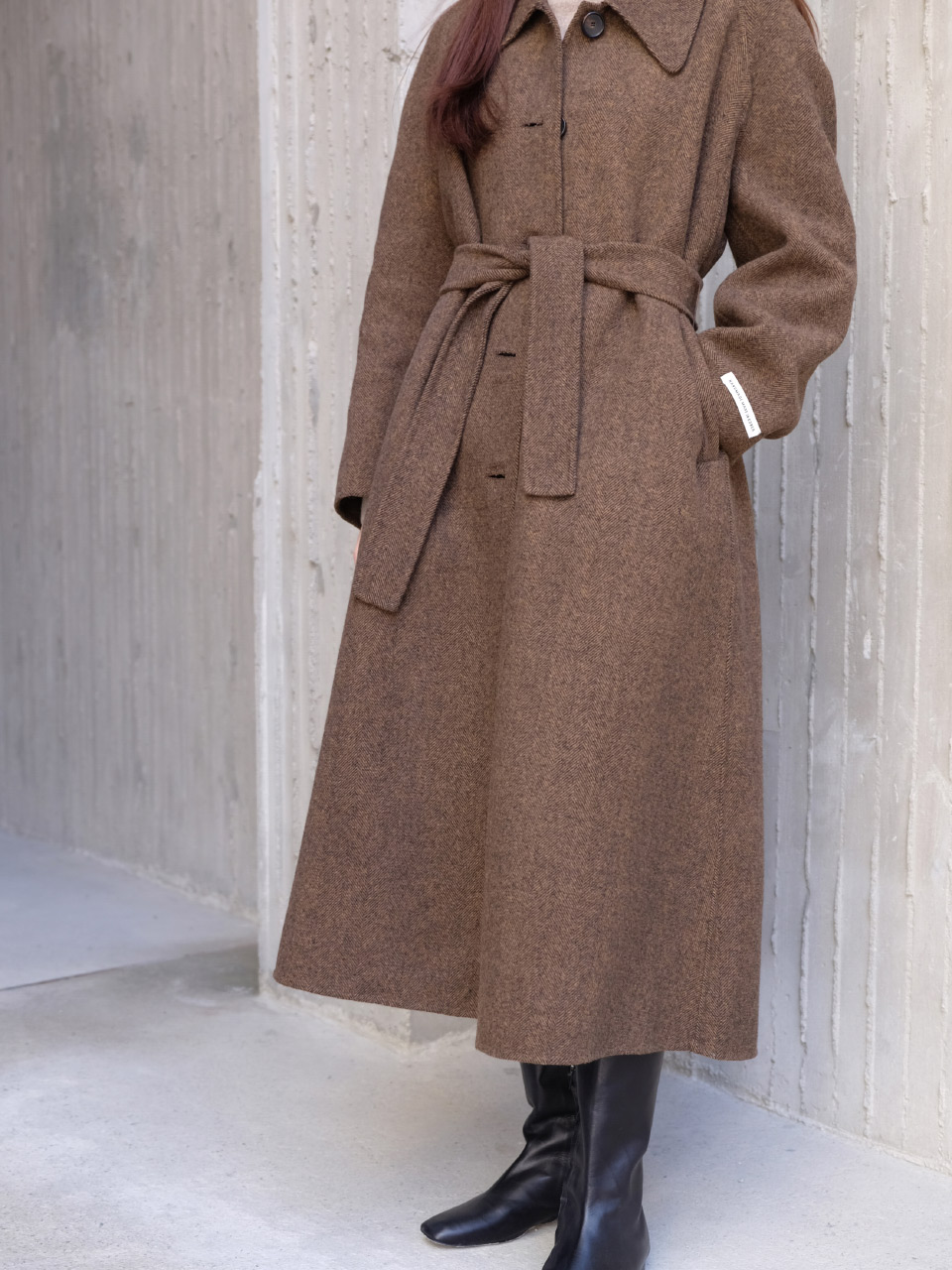WOODY COAT [HERRINGBONE]