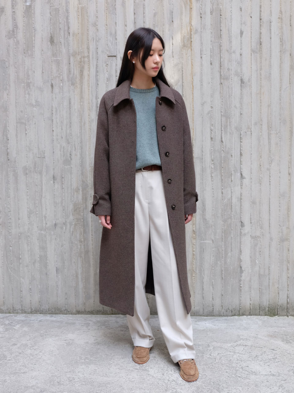 COLIN LONG COAT [GRAY BROWN]