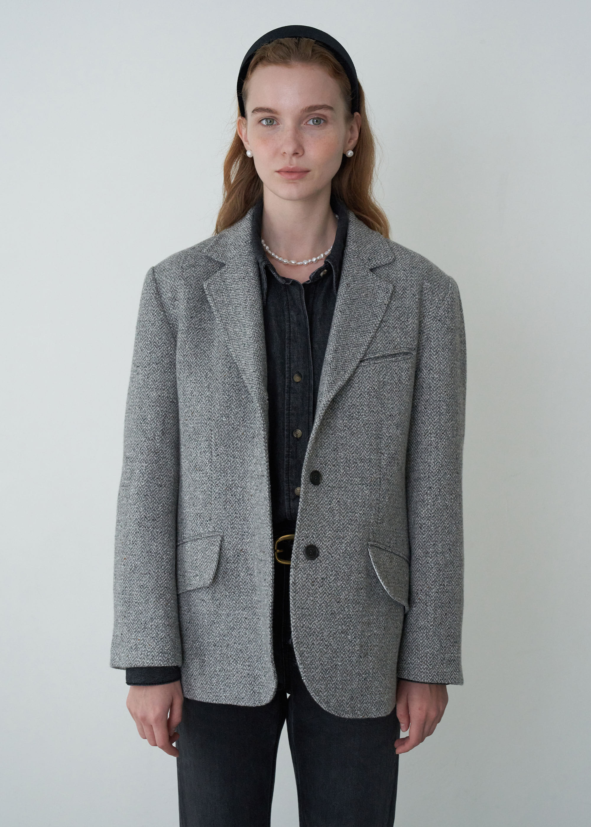 20FW BETTI JACKET [MELANGE HERRINGBONE]