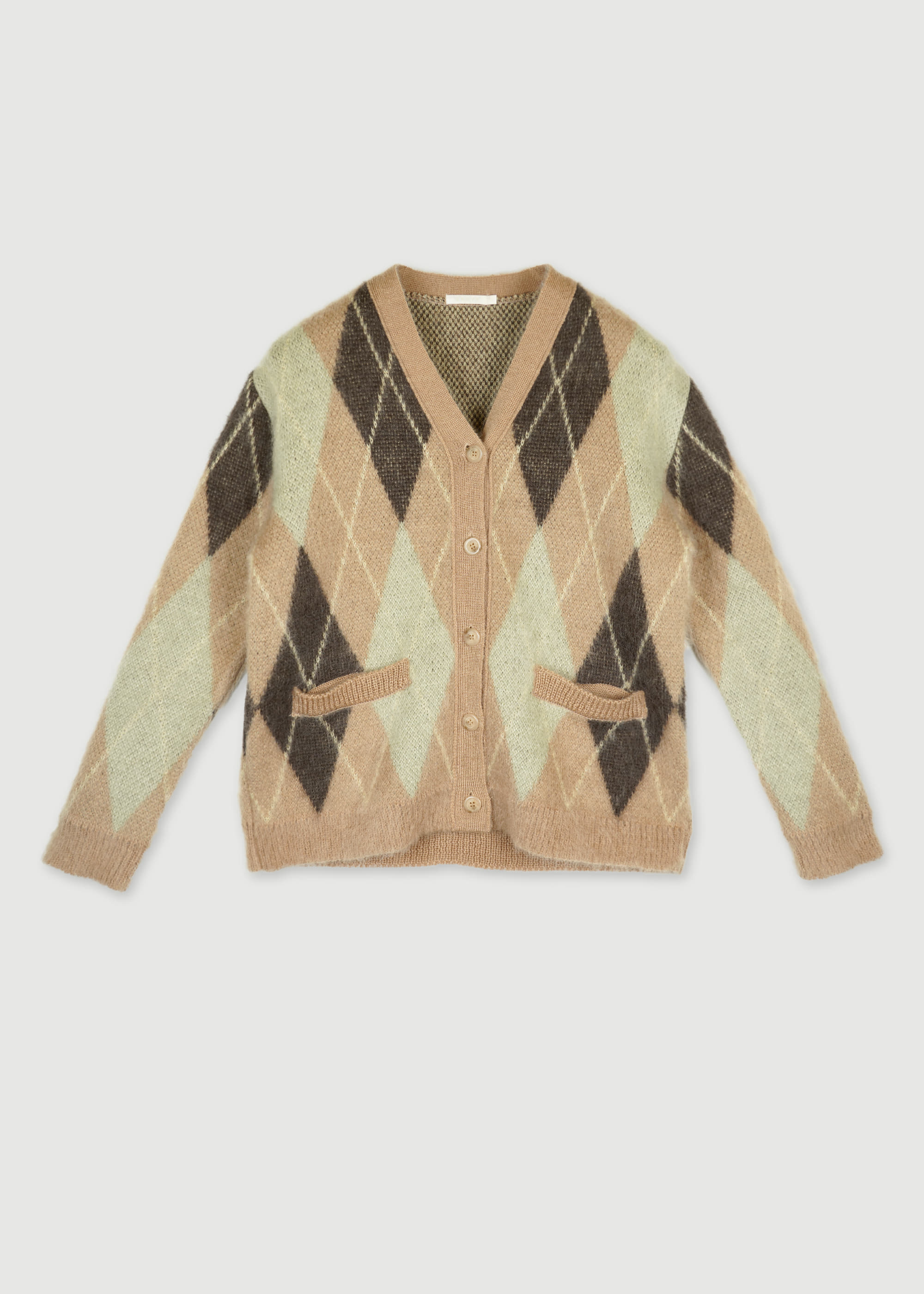 20W/T ARGYLE CARDIGAN [3COLOR]