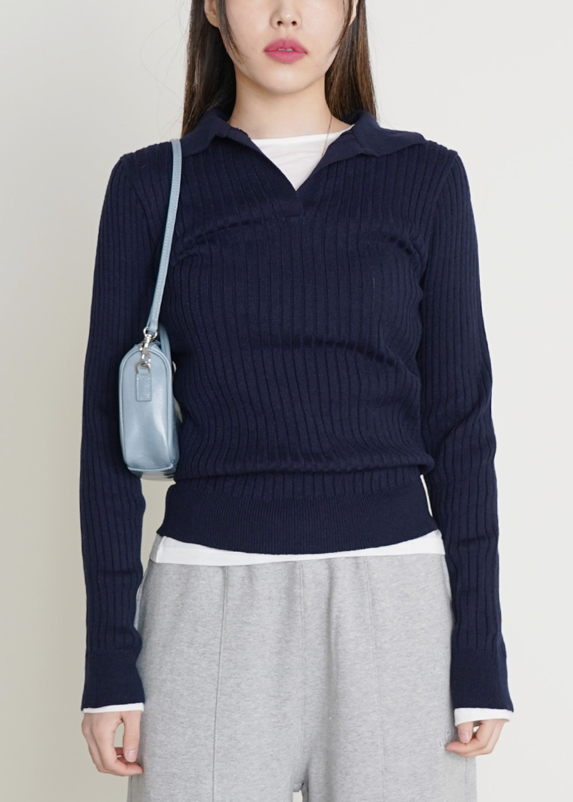 BASIC COLLAR KNIT [3COLOR]